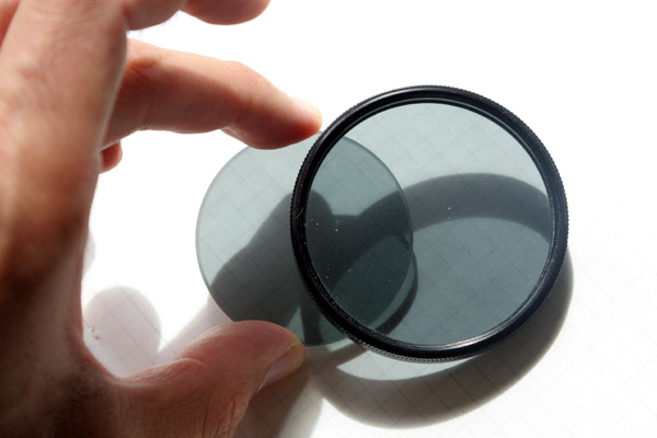 When the polarizing filters are turned into a parallel position, then they will allow light to go through.