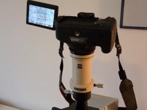 slr on microscope