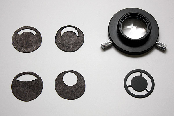 There are many possibilities in trying to improve the microscope. Here is a selection of home-made filters.