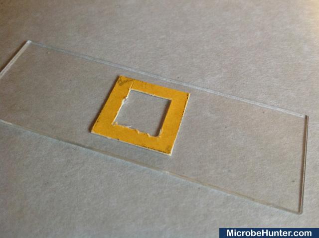 Dry-mounted slide